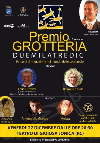 Premio Grotteria 2013 locandina dell'evento