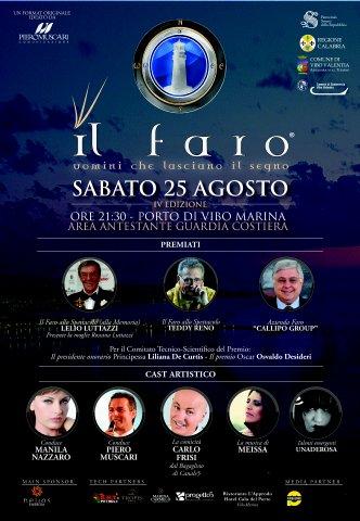 """Locandina del """"Il Faro, uomini che lasciano il segno"""" - IV EDIZIONE 2012"""