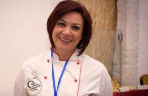 La pastry chef Stella Fiorino al contest Mastro Panettone 2017