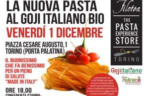 """La pasta nutraceutica al Goji italianoe' """"Filotea"""" a presentarla a Torino l'1 dicembre"""
