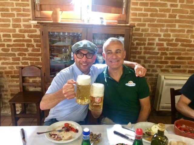 Victor Rallo e Carmelo Basile a tavola