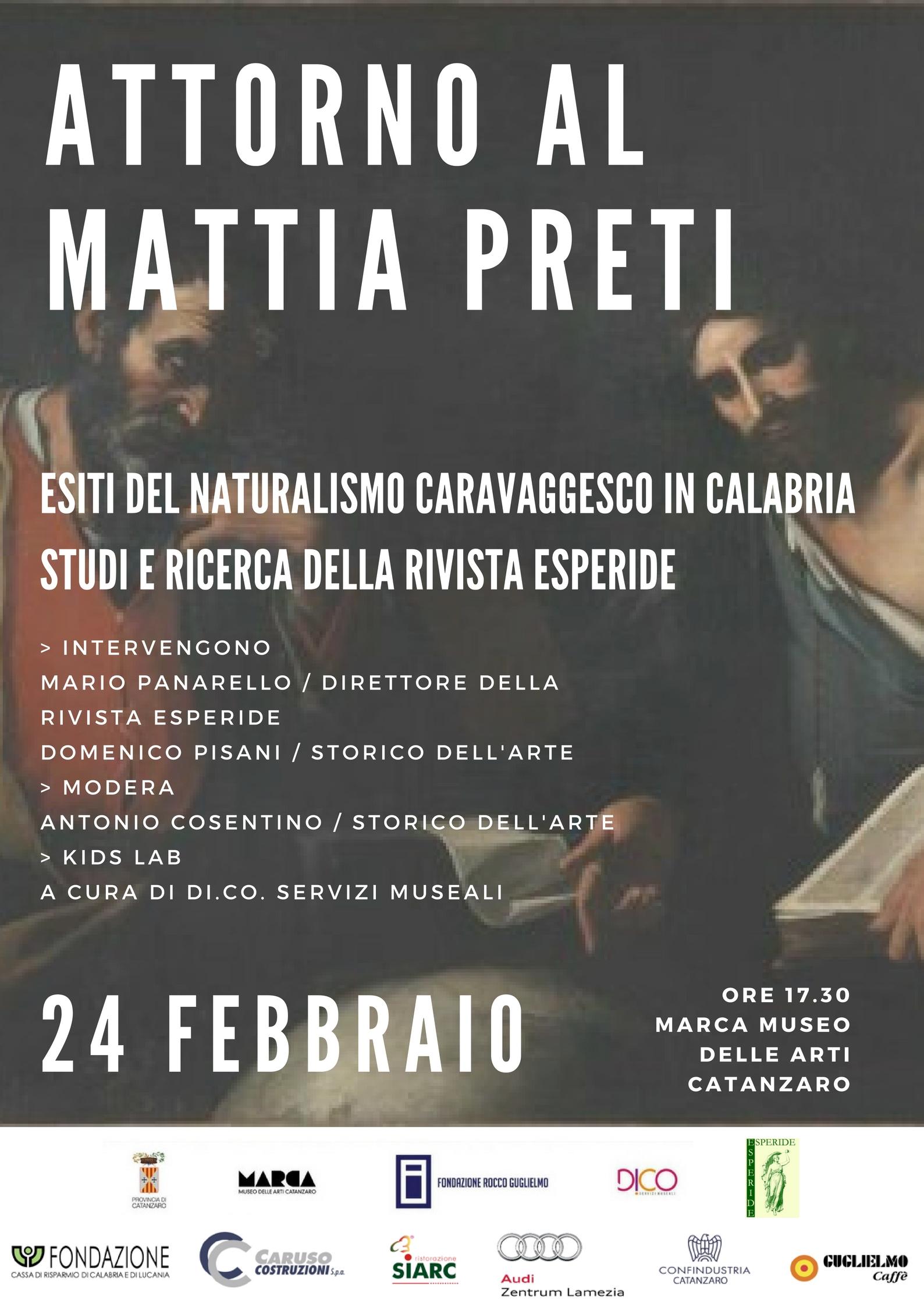 Locandina Attorno al Mattia Preti