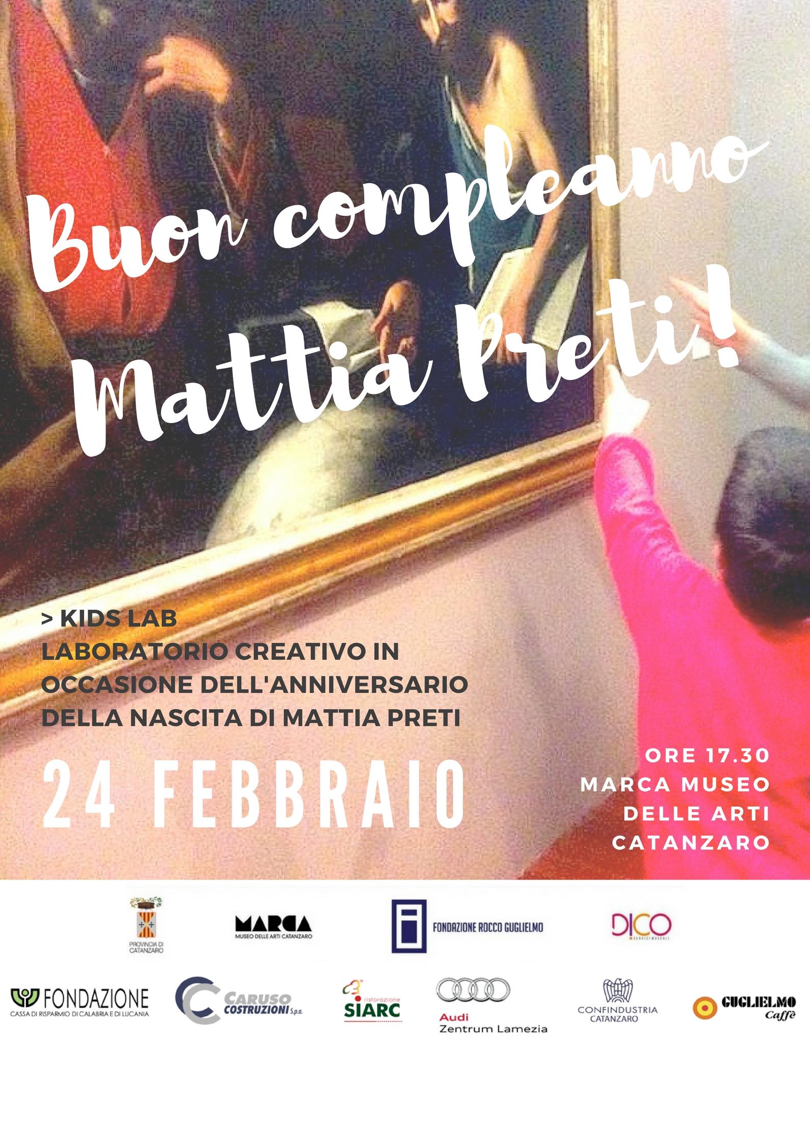 Locandina Buon compleanno Mattia Preti!