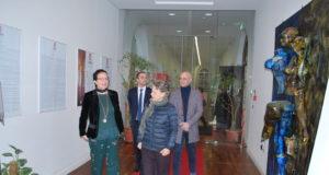 Simonetta Agnello Hornby al Museo Limen Arte. La scrittrice di fama internazionale in visita alla mostra d'arte contemporanea della camera di commercio di Vibo Valentia.