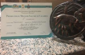 Il salumificio Marvella, orgoglio del Reventino vince premio di Eccellenza: miglior salume di Calabria.