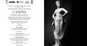 """La Fondazione Rocco Guglielmo e UTET Grandi Opere presentano l'evento """"CANOVA - Il segno della bellezza""""."""
