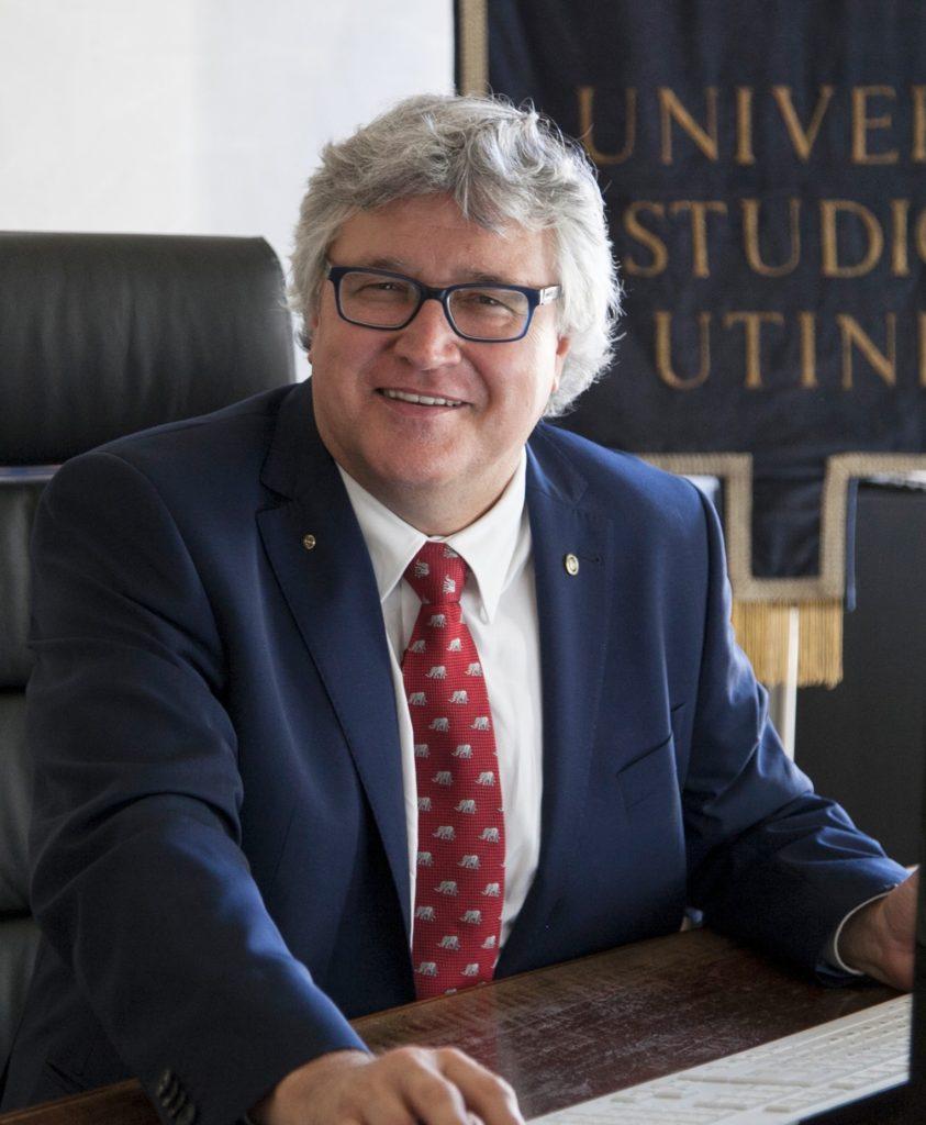 Alberto F. De Toni , rettore dell'Università di Udine e Segretario Generale della CRUI