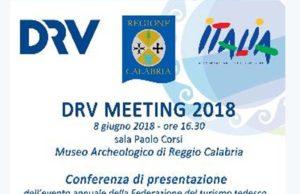 Venerdì 8 giugno 2018 a Reggio Calabria, si svolgerà la conferenza stampa durante la quale sarà presentato il Meeting DRV 2018.