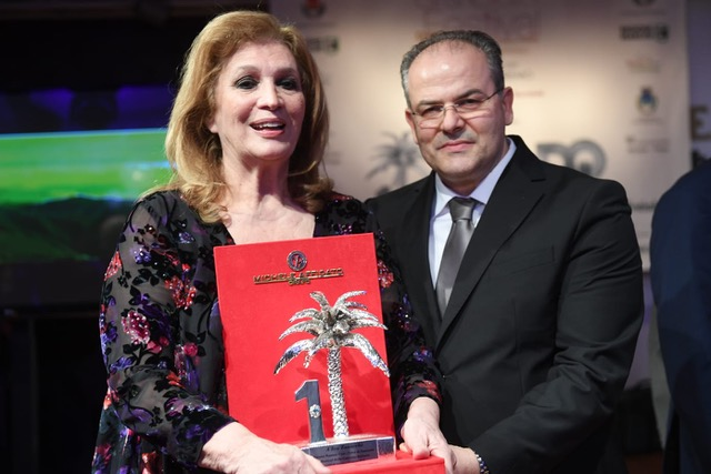 Iva Zanicchi e Michele Affidato - premio Numeri uno