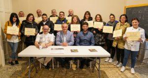 Antonio Ventura, Rosario Previtera, Antonio Galatà e alcuni partecipanti al corso