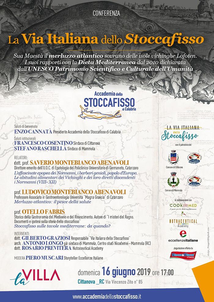 """Locandina """"La Via Italiana dello Stoccafisso"""" domenica 16 giugno"""
