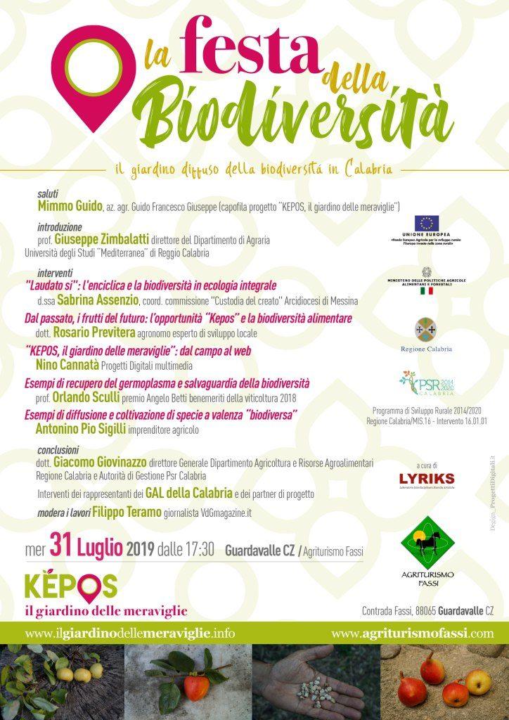 Locandina Festa della biodiversità - Kepos il giardino delle meraviglie