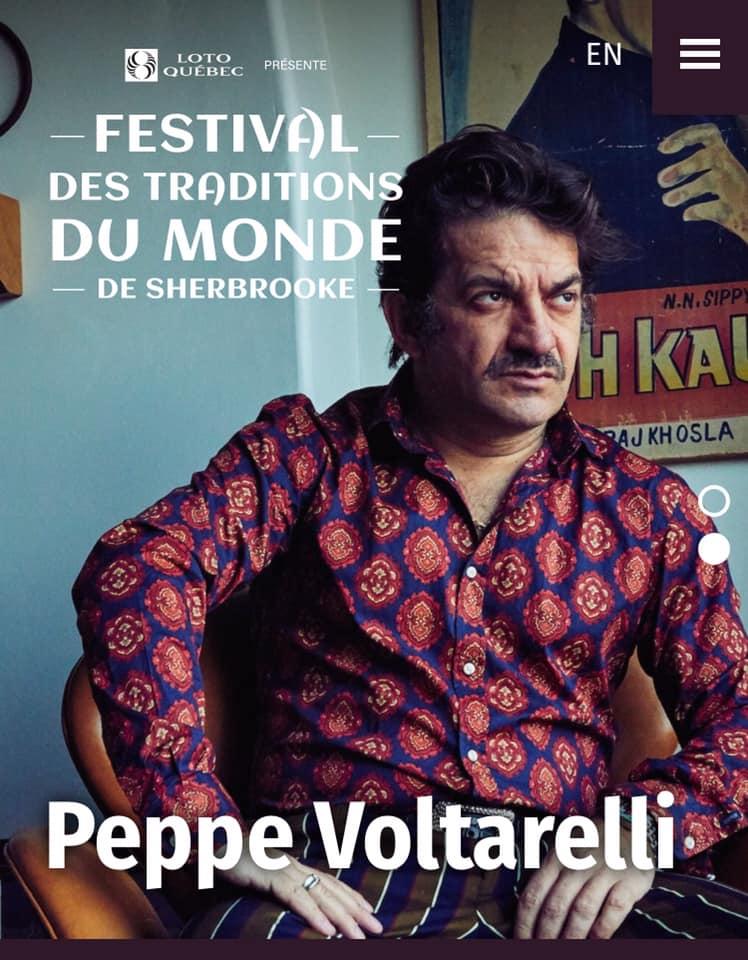 Voltarelli al Festival des Tradition du Monde a Sherbrooke.
